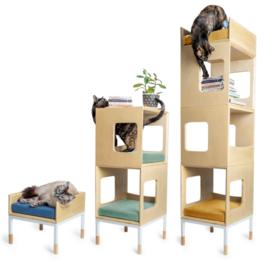 Modern, modular cat furniture from Mjau Home